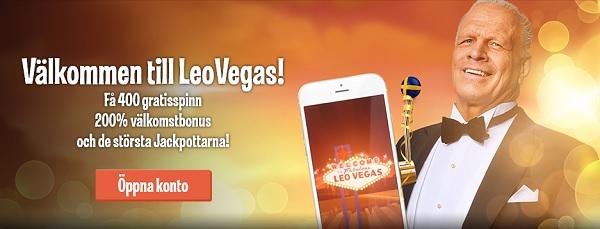 LeoVegas casinobonus