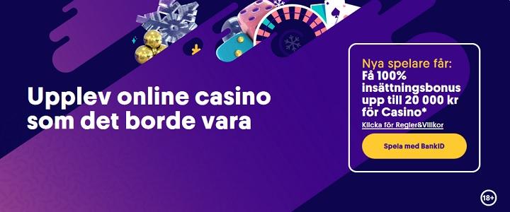 Spela med de bästa casinobonusarna 2020