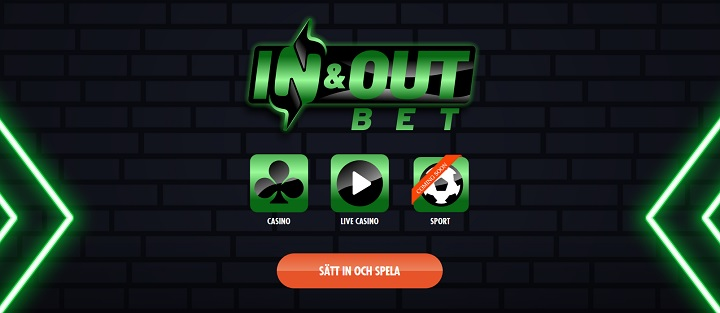 InAndOutBet casino och inom kort betting