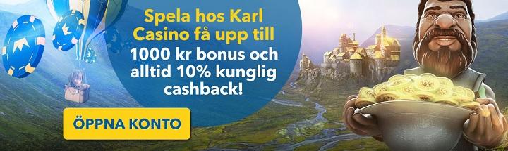 KarlCasino bonus