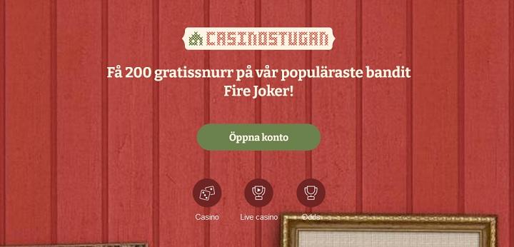 Casinostugans casinobonus med 200 free spins